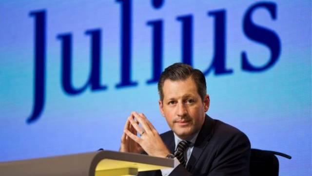 Boris Collardi, Chef der Bank Julius Bär, an der Generalversammlung. Foto: Keystone