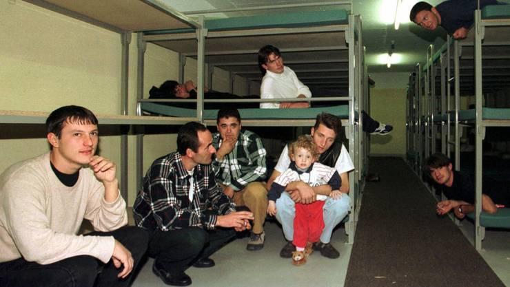 Kriegsflüchtlinge aus dem Kosovo wurden Ende der 1990er-Jahre auch im Aargau in Zivilschutzanlagen und unterirdischen Notspitälern untergebracht.