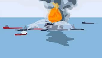 Die Explosion auf der Ölplattform Deepwater Horizon hatte dramatische Auswirkungen.