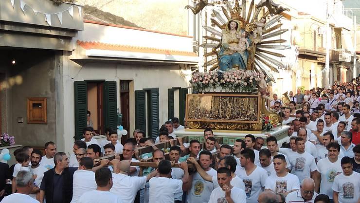Mafiosi sind keine Christen: Diese Marienprozession in Oppido Mamertina war dem Papst besonders sauer aufgestossen. (Archiv)