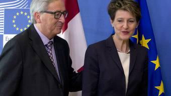 Die Politiker haben über die Umsetzung der Zuwanderungsinitiative gesprochen.