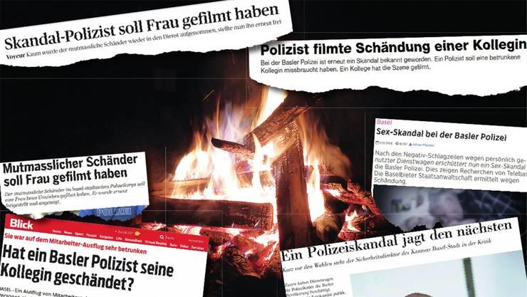 Die Medien fingen schnell Feuer: Doch was passierte wirklich, als vier Polizisten um ein Lagerfeuer sassen?