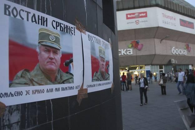 Poster von Mladic in Banja Luka