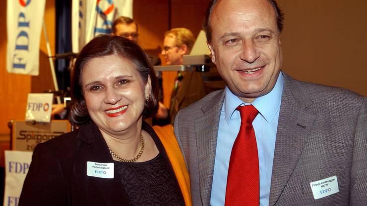 Doris Fiala setzte sich 2004 gegen Filippo Leutenegger durch und wurde Präsdientin der FDP des Kantons Zürich.