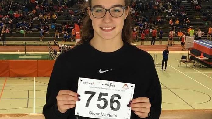 Michelle Gloor senkt ihren Vereinsrekord über 60m vom letzten Wochenende gleich nochmals um 8/100 sek! (Bild: Philip Salathe)