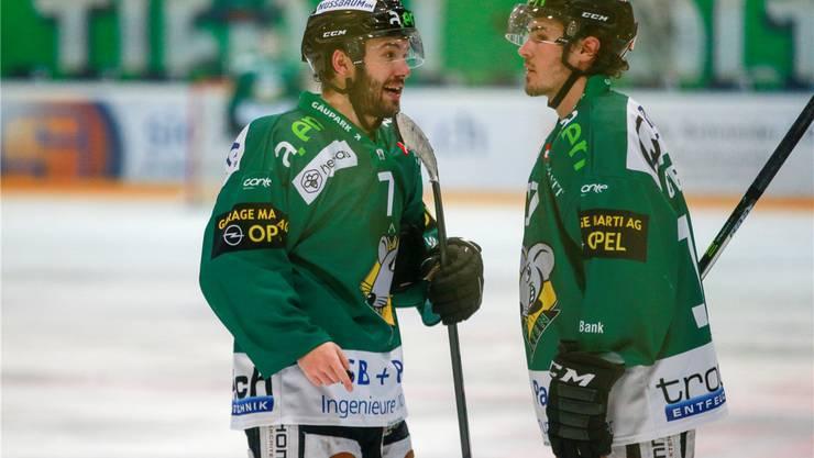 Inzwischen zu Leistungsträger avanciert: Die EHCO-Ausländer Cason Hohmann (l.) und Bryce Gervais. Freshfocus