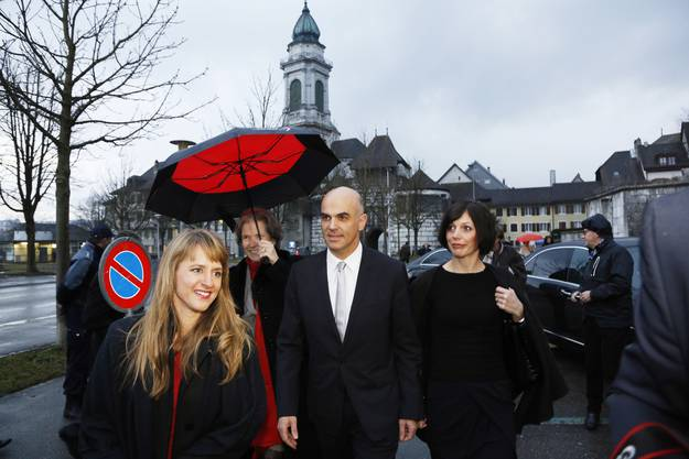 Filmtage-Direktorin Seraina Rohrer, Christine Beerli, Bundesrat Alain Berset und Muriel Zeender Berset