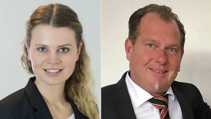 Beide wollen in den Gemeinderat: Jasmin Hofer (23) und Claudio Gygax (52).