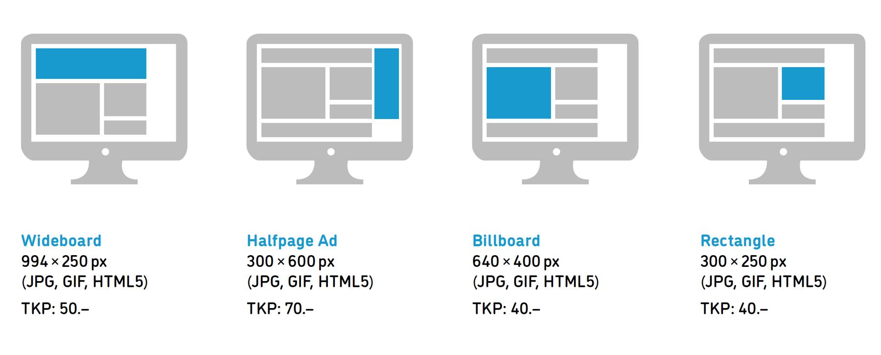 Desktop Werbeplätze