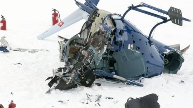 Totalschaden beim Helikopter (Symbolbild)