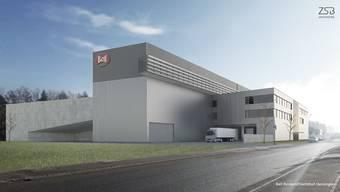 So soll der neue Rinderschlachthof an der Dünnerstrasse nach seiner Fertigstellung aussehen.