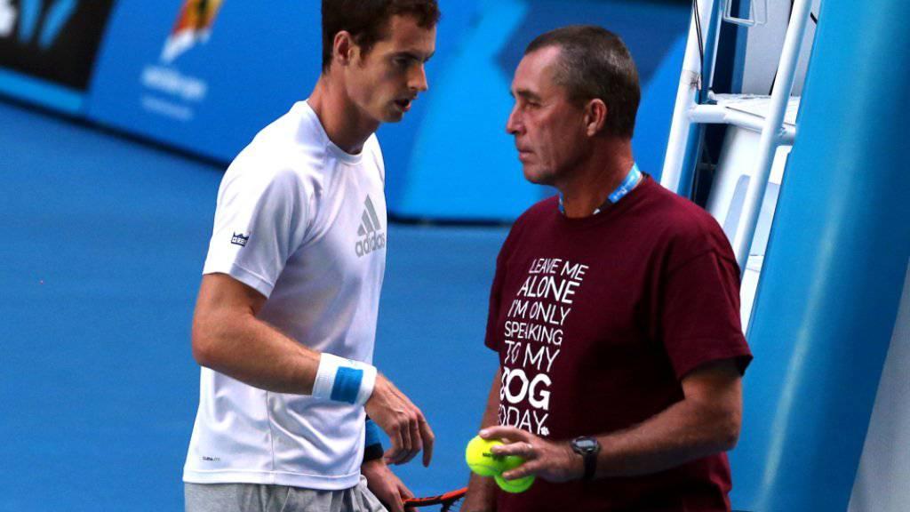 Andy Murray und  Ivan Lendl sind wieder zusammen auf der Tour unterwegs