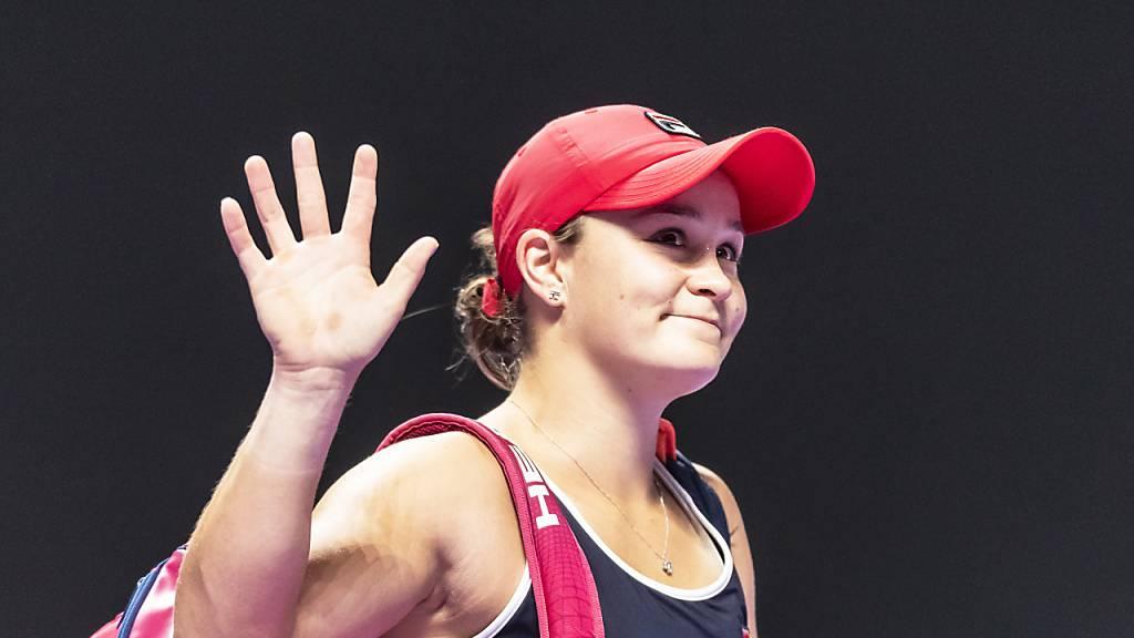 Weltnummer 1 Ashleigh Barty als Gruppensiegerin im Halbfinal