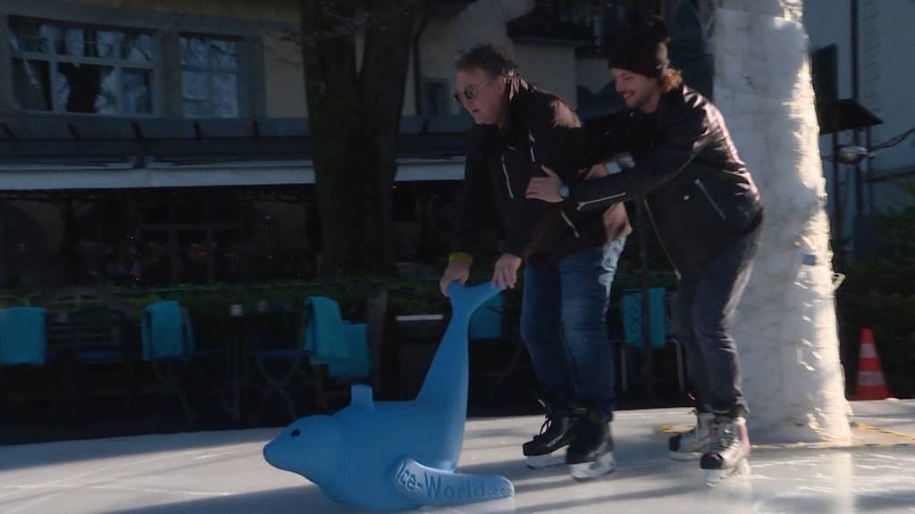 Rima und Baker üben für Art on Ice