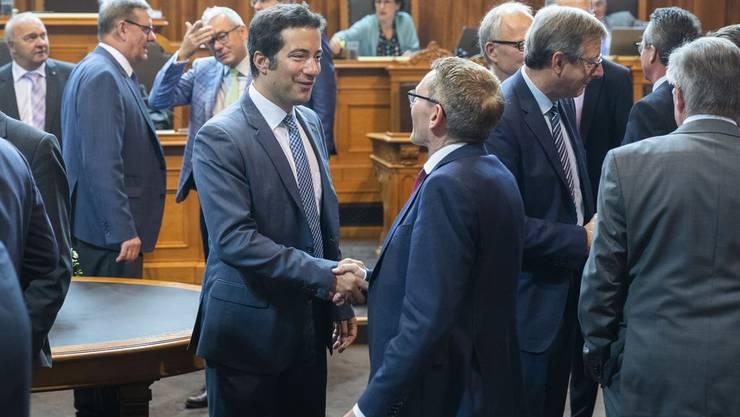 Die Ständeräte Andrea Caroni (l.) und Pirmin Bischof wollen, dass das Parlament in der Coronakrise aus der Schockstarre kommt.