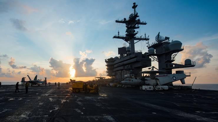 Die US-Marine hat entgegen früheren Äusserungen noch keine US-Flugzeugträgerformation in Richtung koreanischer Gewässer geschickt. (Archivbild der Carl Vinson)