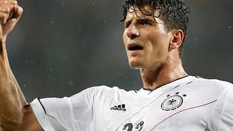 Kurz vor der Pause erzielte Mario Gomez das 1:0 für die Deutschen.