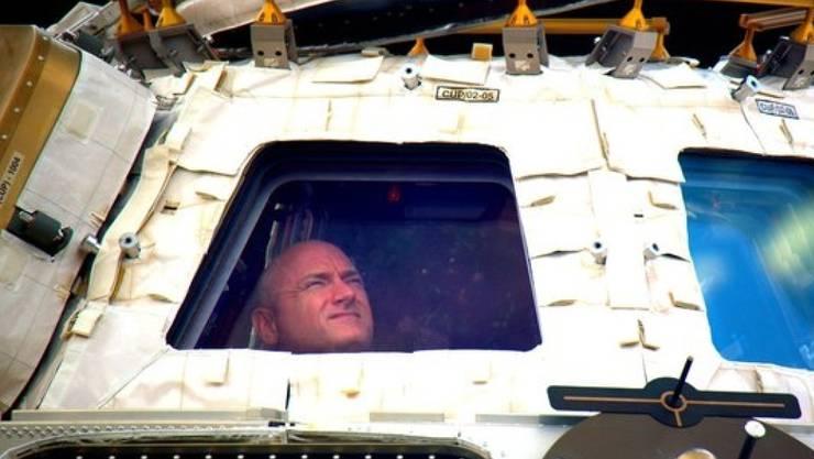 Fast ein Jahr im All: US-Astronaut Scott Kelly hat wieder Erdboden unter den Füssen.