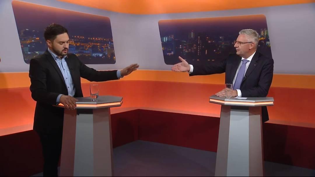Begrenzungsinitiative: Cédric Wermuth und Andreas Glarner lieferten sich im TV einen Schlagabtausch