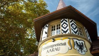 Das Restaurant Schützenhaus geht am 26. Oktober endlich offiziell auf. Treffen mit Christian Senn und Raoul Niederreuther, den beiden Betreibern, im Restaurant an der Ecke Aarenaustrasse/Pappelweg. Aufgenommen am 18. Oktober 2018 in Aarau.
