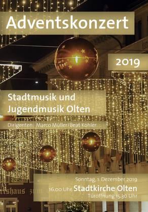 Am Sonntag, 1. Dezember ist es soweit: Stadtmusik und Jugendmusik Olten präsentieren ihr Können.