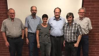 Der neue Vorstand (von links): Heinz Eigensatz, Samuel Schmid, Martina Widmer, Felix Müller, Marc Frey und Sergio Caneve.