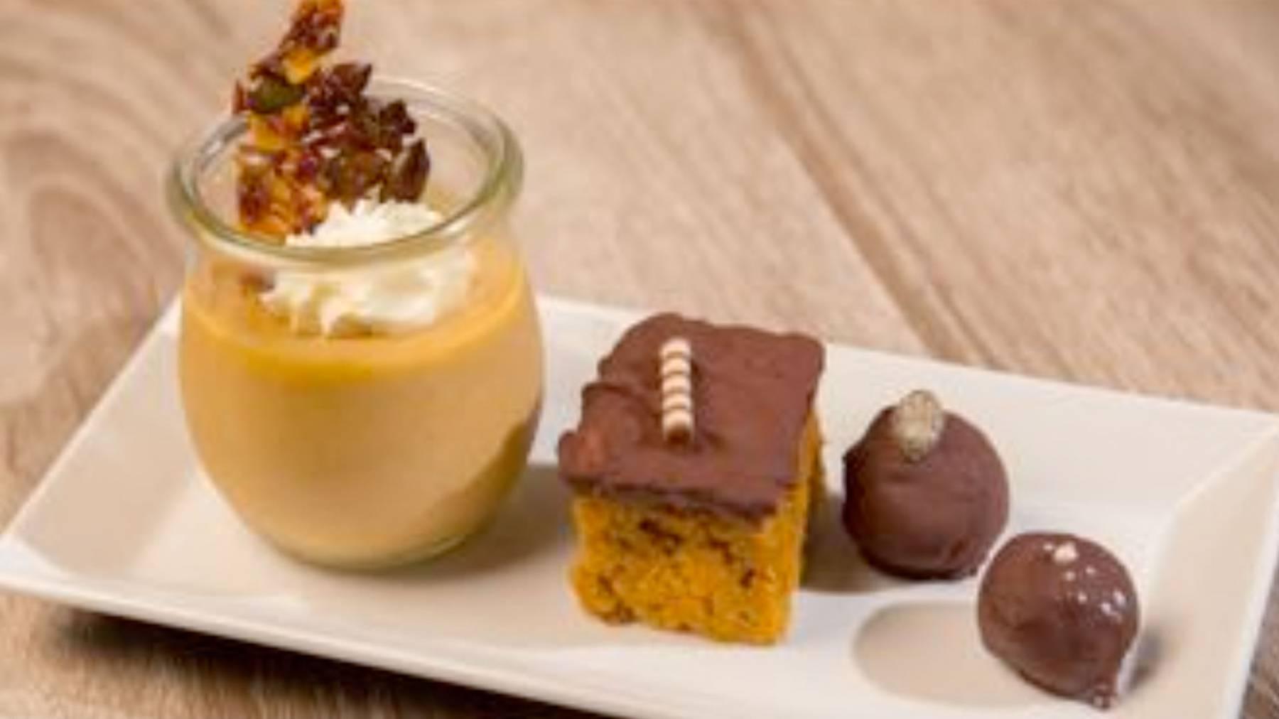 Kürbis-Dessert im Glas