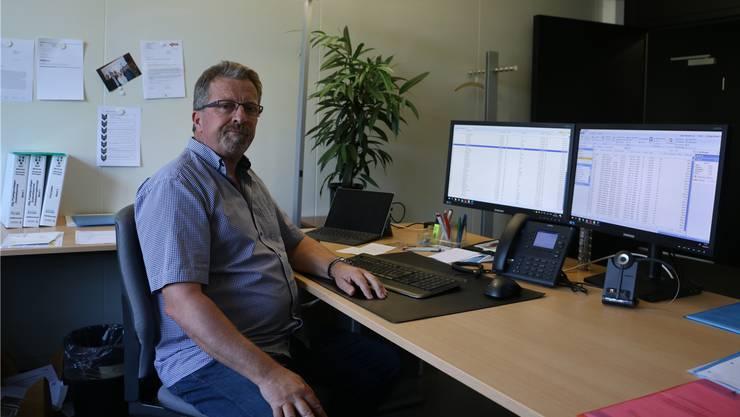 Flexibilität am Arbeitsplatz ist ihm wichtig: Jürg Müller, Vorsitzender der Geschäftsleitung der KSL Ingenieure AG in Frick. Dennis Kalt