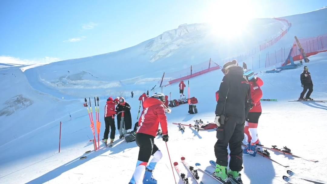 Schweizer Ski-Stars trainieren in Zermatt