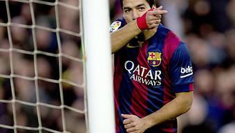 Luis Suarez traf zum zwischenzeitlichen 2:0 für Barcelona
