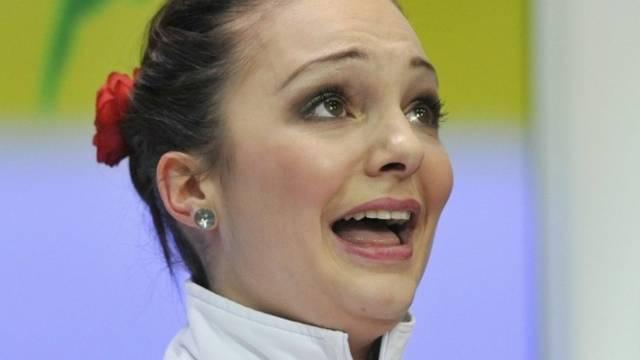 Kein Goldkehlchen: Eiskunstlauf-Star Sarah Meier (Archiv)