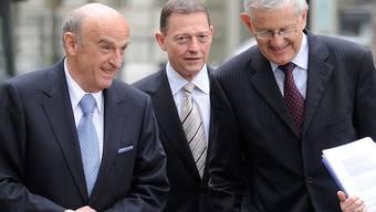 Richtungsweisend: Finanzminister Hans-Rudolf Merz und UBS-Präsident Villiger in Bern.