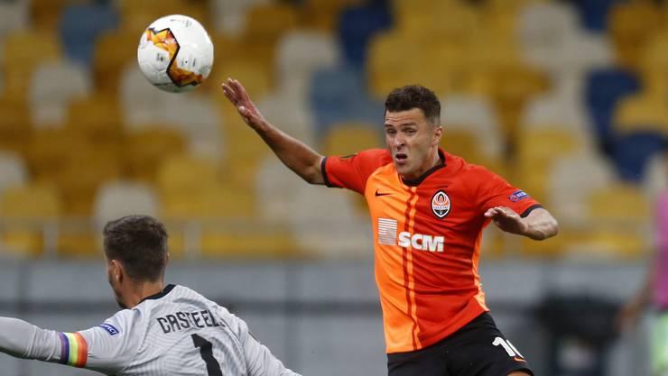 Gefährlicher Stürmer: Junior Moraes traf gegen Wolfsburg insgesamt dreimal und schoss Schachtar Donezk damit in den Viertelfinal.