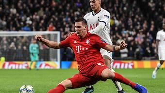 Bayern Münchens Abwehrchef Niklas Süle, hier im Champions-League-Spiel gegen Tottenham Hotspur, fällt mit einem Kreuzbandriss mehrere Monate aus