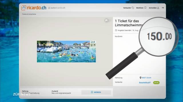 150 Franken für ein Limmatschwimmen-Ticket