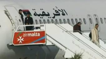 Nach der Entführung eines libyschen Flugzeugs nach Malta sind die Passagiere nach Hause zurückgekehrt.