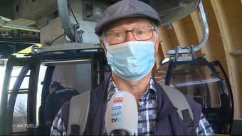 Was sagen die Passagiere der Seilbahn Weissenstein zur Maskenpflicht?