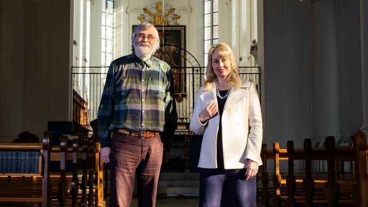 Der christkatholische Pfarrer Klaus Wloemer und seine Nachfolgerin Denise Wyss.