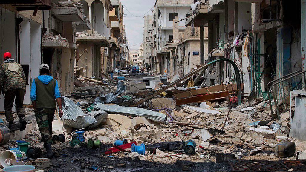 Komplizierte Aktion für das IKRK: Ausmass der Zerstörung in Syrien treibt Millionen Menschen in die Flucht. (Archivbild)