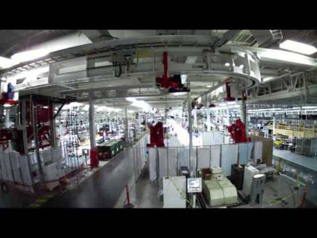 Blick in die Tesla-Fabrik im kalifornischen Fremont.