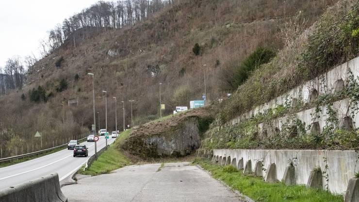 Die Einfahrt zum Muggenbergtunnel in Aesch steht bereit – seit 40 Jahren.