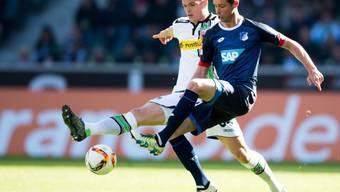 Granit Xhaka (links) machte bei Gladbachs 3:1 gegen Hoffenheim ein starkes Spiel