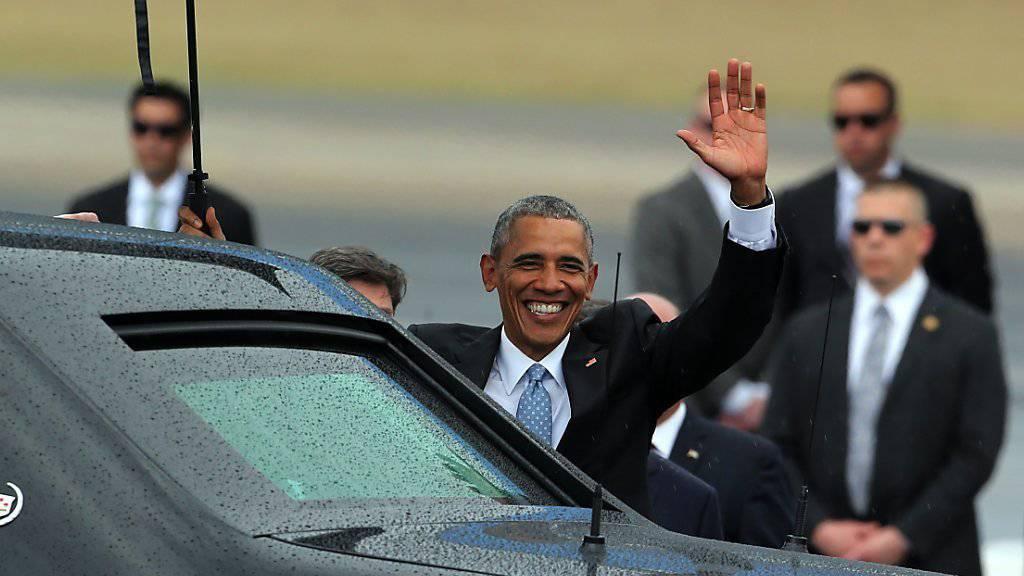 US-Präsident Obama nach seiner Ankunft in Havanna