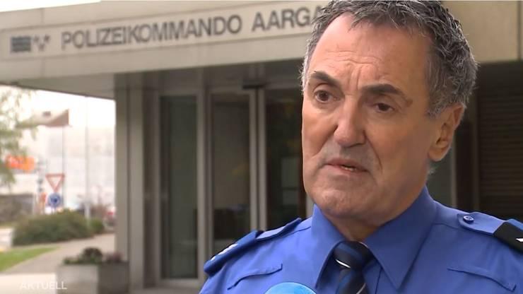 Grosseinsatz der Aargauer Kantonspolizei, Mediensprecher Max Suter erklärte den Einsatz.