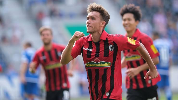 Überraschend noch immer ein Freiburger und eines der Gesichter des starken SC-Saisonstarts: Luca Waldschmidt, Neo-Nationalspieler und bereits dreifacher Torschütze in der noch jungen Saison.