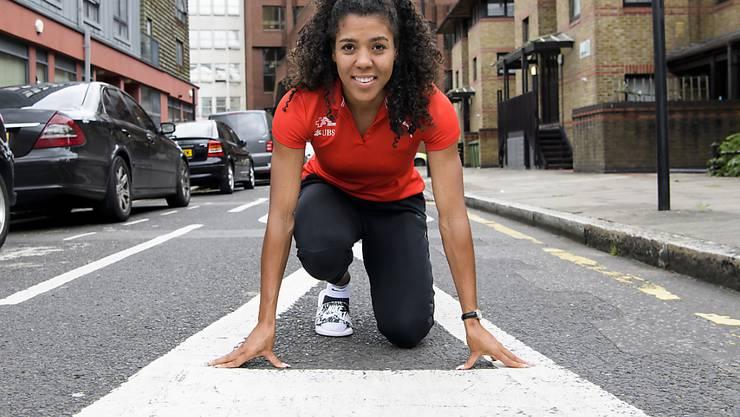 Mujinga Kambundji tritt an der WM in London über 100 m, 200 m und mit der Sprint-Staffel an