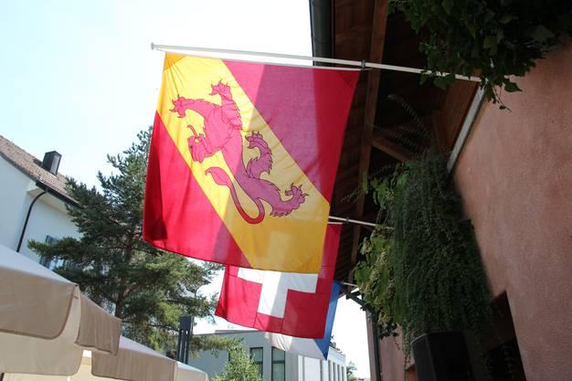 Das «Üdikerhuus» wurde festlich beflaggt.