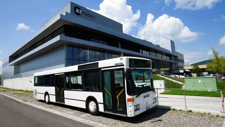 Der az-Wahlkampfbus kehrt nach der Tournee durch den Aargau zum AZ-Mediencenter zurück.