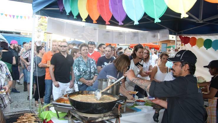 «Das Auge isst mit» – und so konnten viele Festival-Gäste auch dieser verlockenden Pfanne nicht widerstehen.