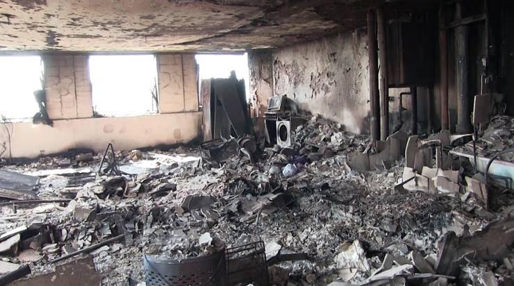 Die Bilder zeigen die Verwüstung, die das verheerende Feuer angerichtet hat.